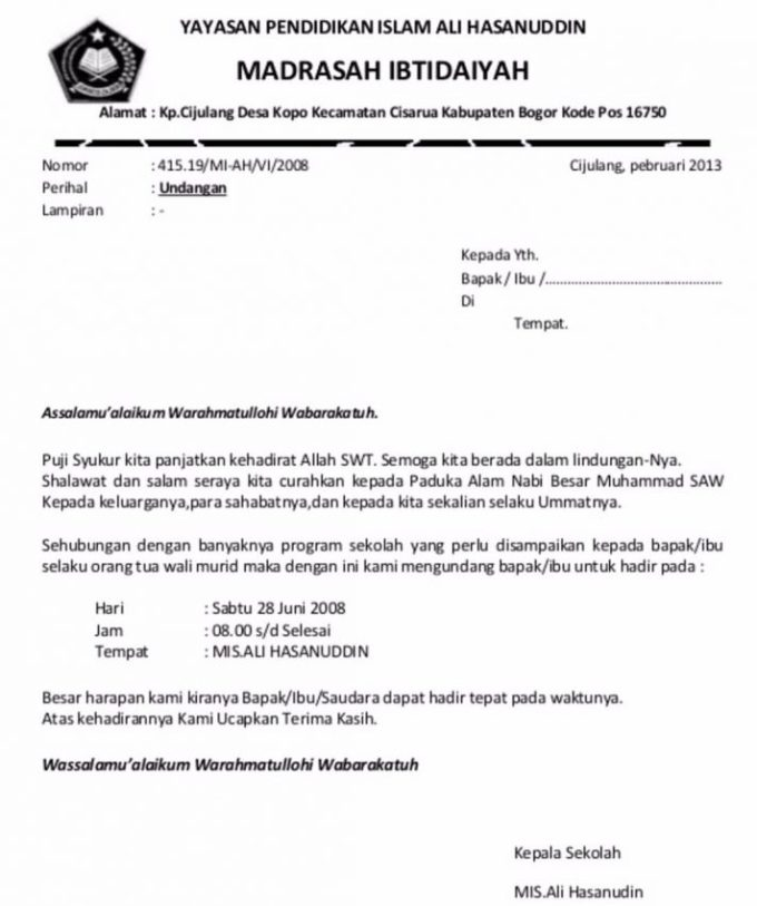 7 Contoh Surat Undangan Rapat Resmi Rt Perusahaan