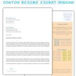 Set Lengkap Contoh Resume Dan Surat Iringan