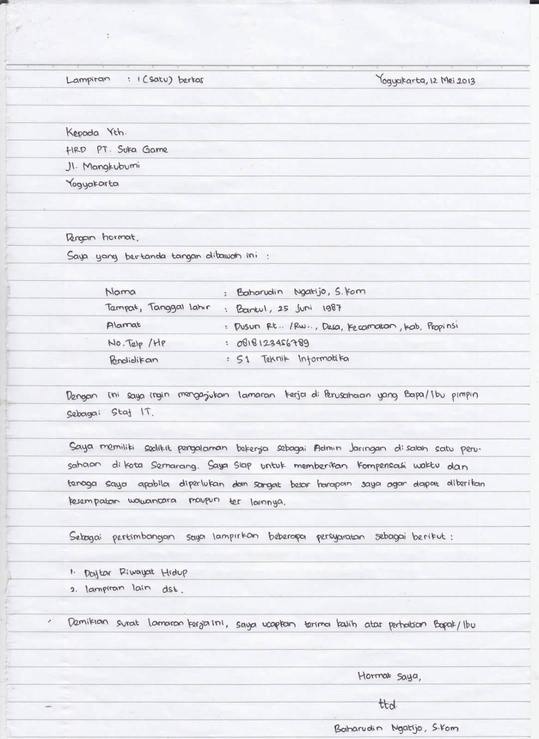 Contoh Cv Lamaran Kerja Belum Ada Pengalaman Best Resume Examples