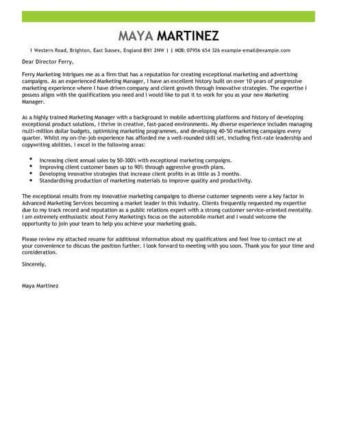 Contoh Surat Lamaran Kerja Marketing Yang Benar Contoh Surat