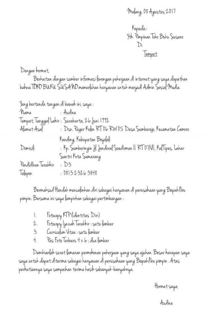Contoh Daftar Riwayat Hidup Curriculum Vitae Contoh Surat
