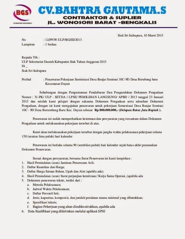 Contoh Surat Penawaran Jasa