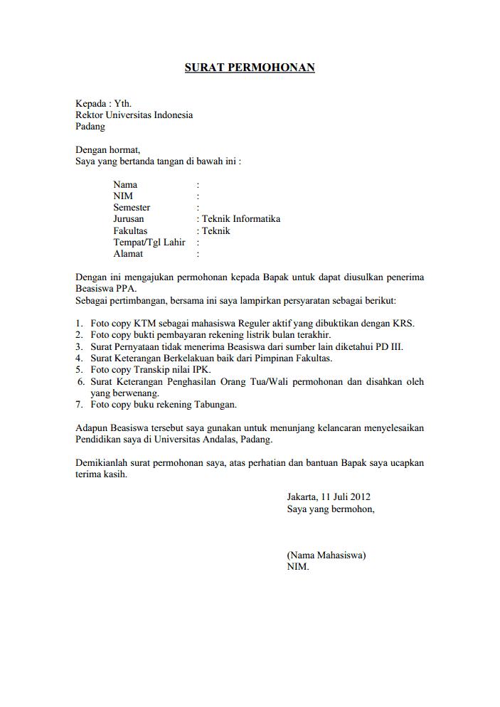 Contoh Surat Sumbangan Sukarela