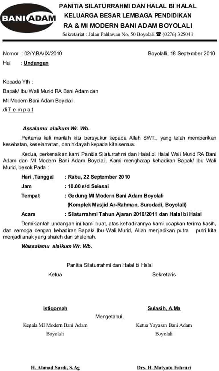 14++ Contoh surat dinas halal bihalal terbaru terbaru