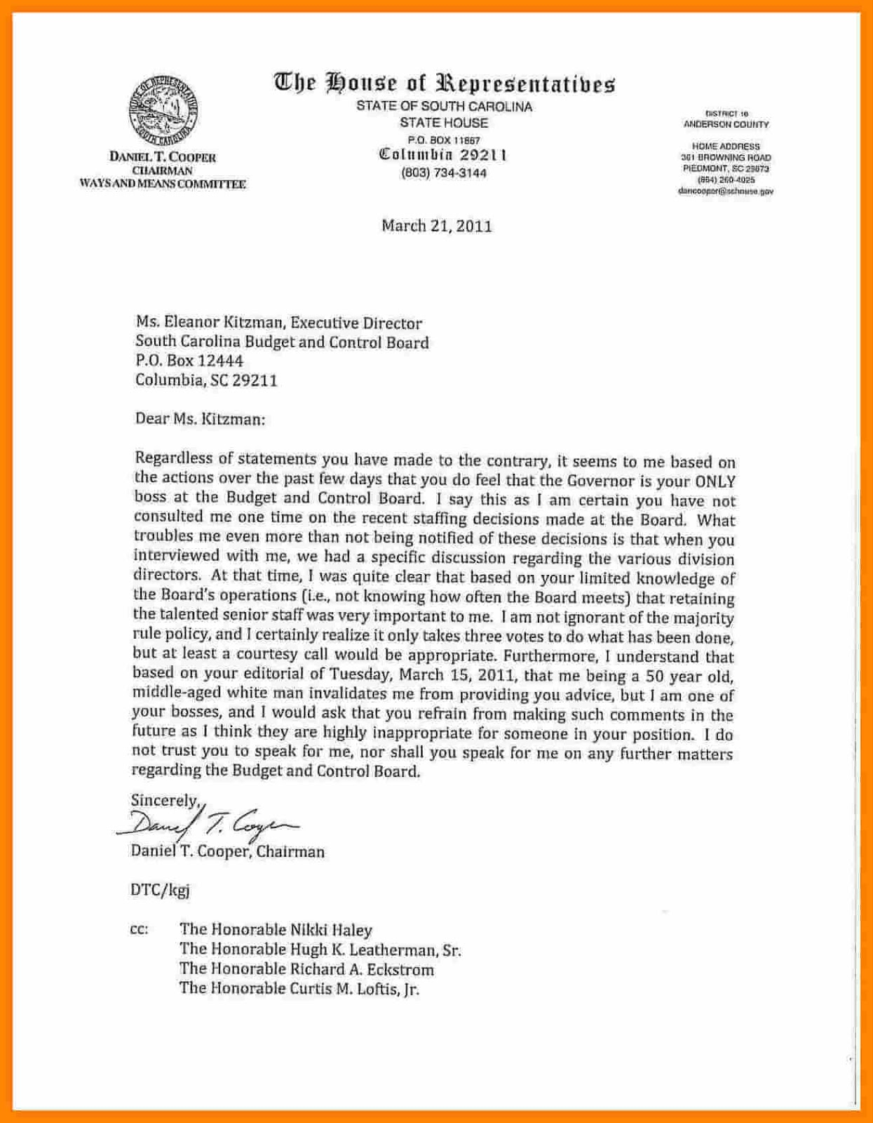 Financial Aid Appeal Letter Example For Bad Grades