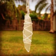Clear Seaglass Pendant