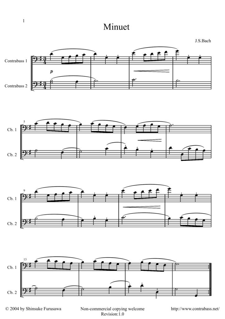 J.S.Bach: Minuet