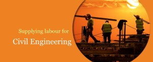 Supplying civil engineering workers for hire