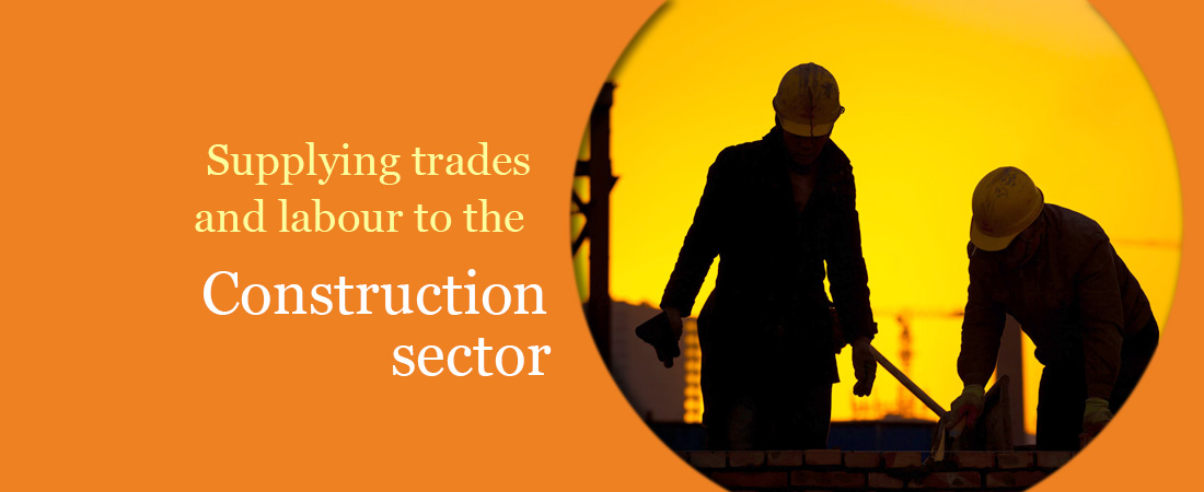 Supplying trades and labour to the construction sector