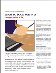 ARTICLE:  What to Look for in a Construction CPA