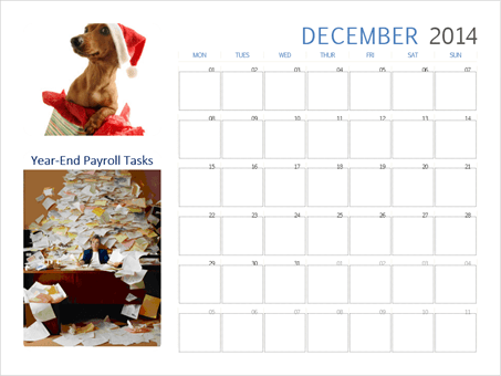 Year End Payroll Tasks for 2014 and year beginning 2015