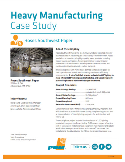 Roses Southwest Paper Inc Case Study