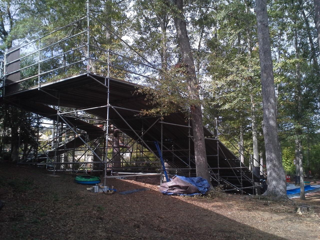 Birmingham Zoo scaffold playslide