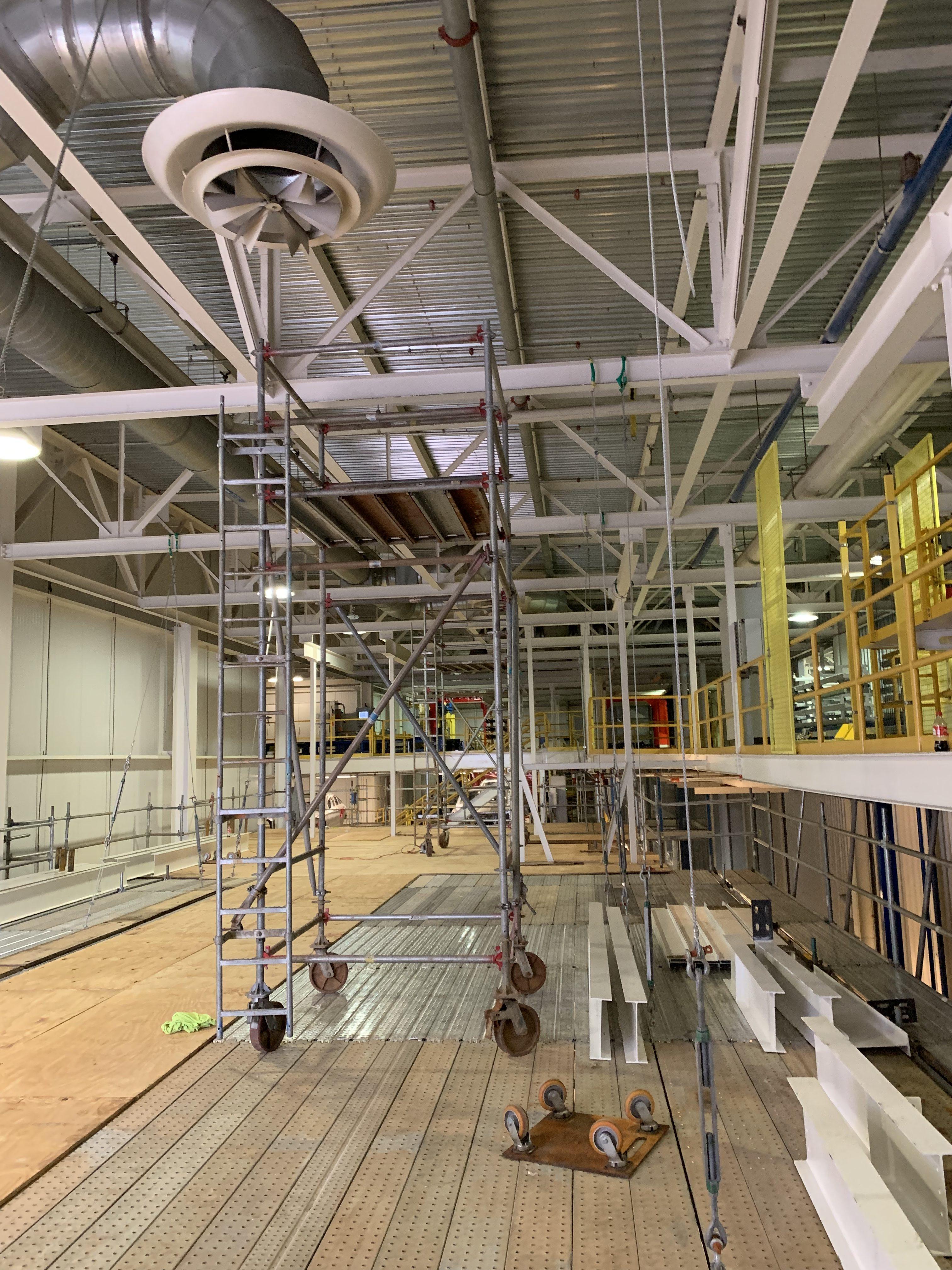 New Mezzanine in Industrial Plant scaffold 18