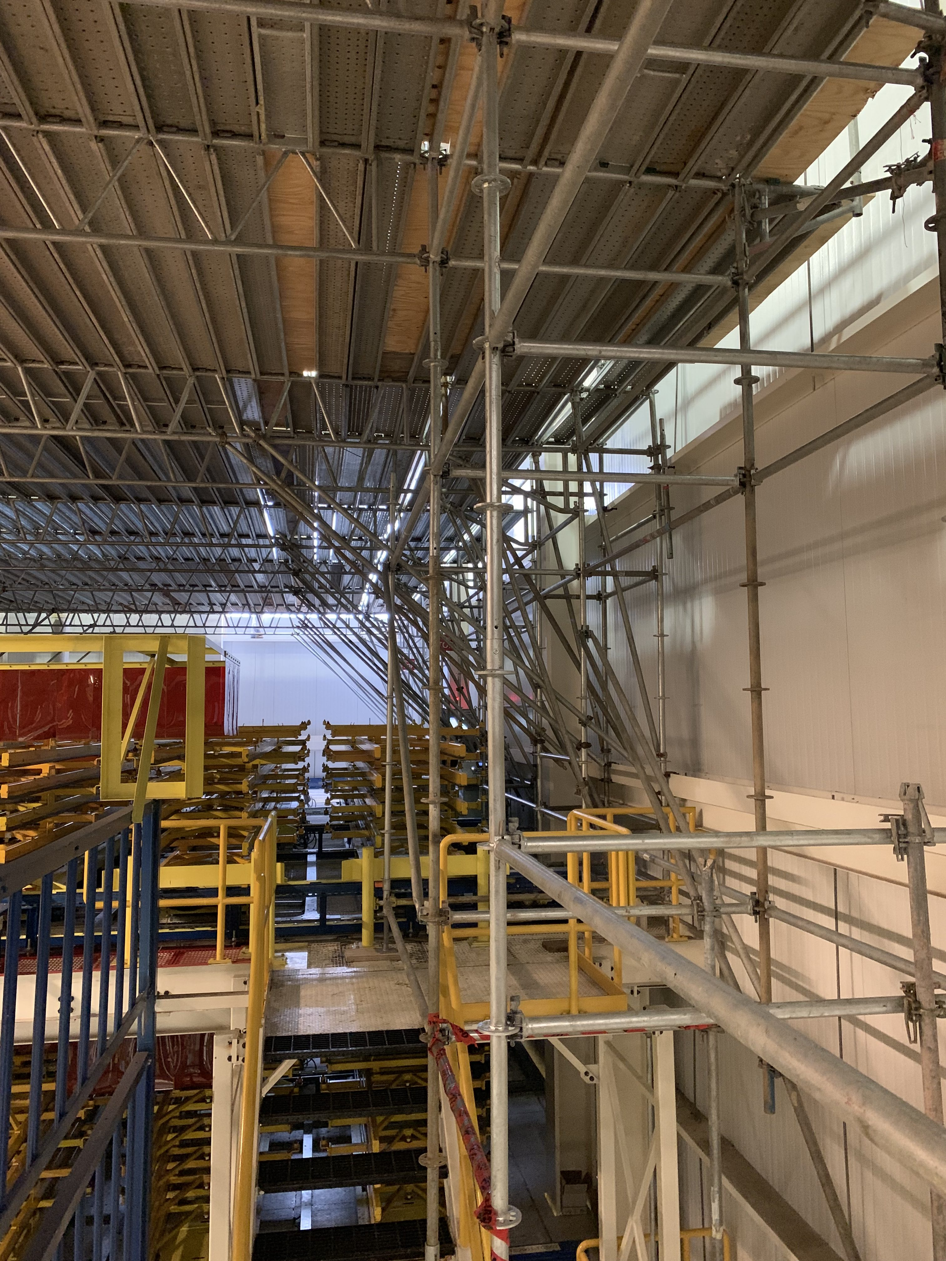 New Mezzanine in Industrial Plant scaffold 9