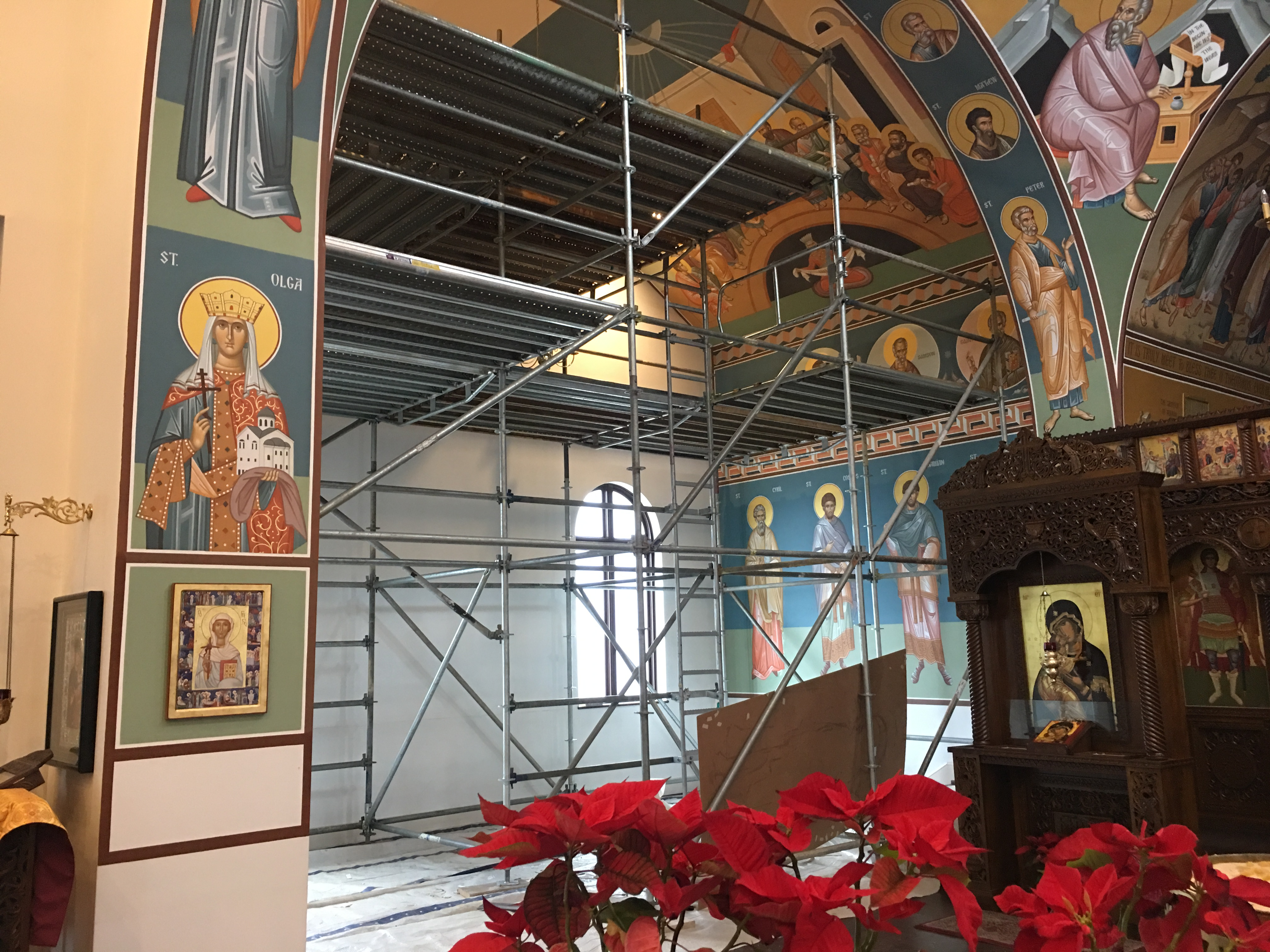 Greek Orthodox Church scaffold 1