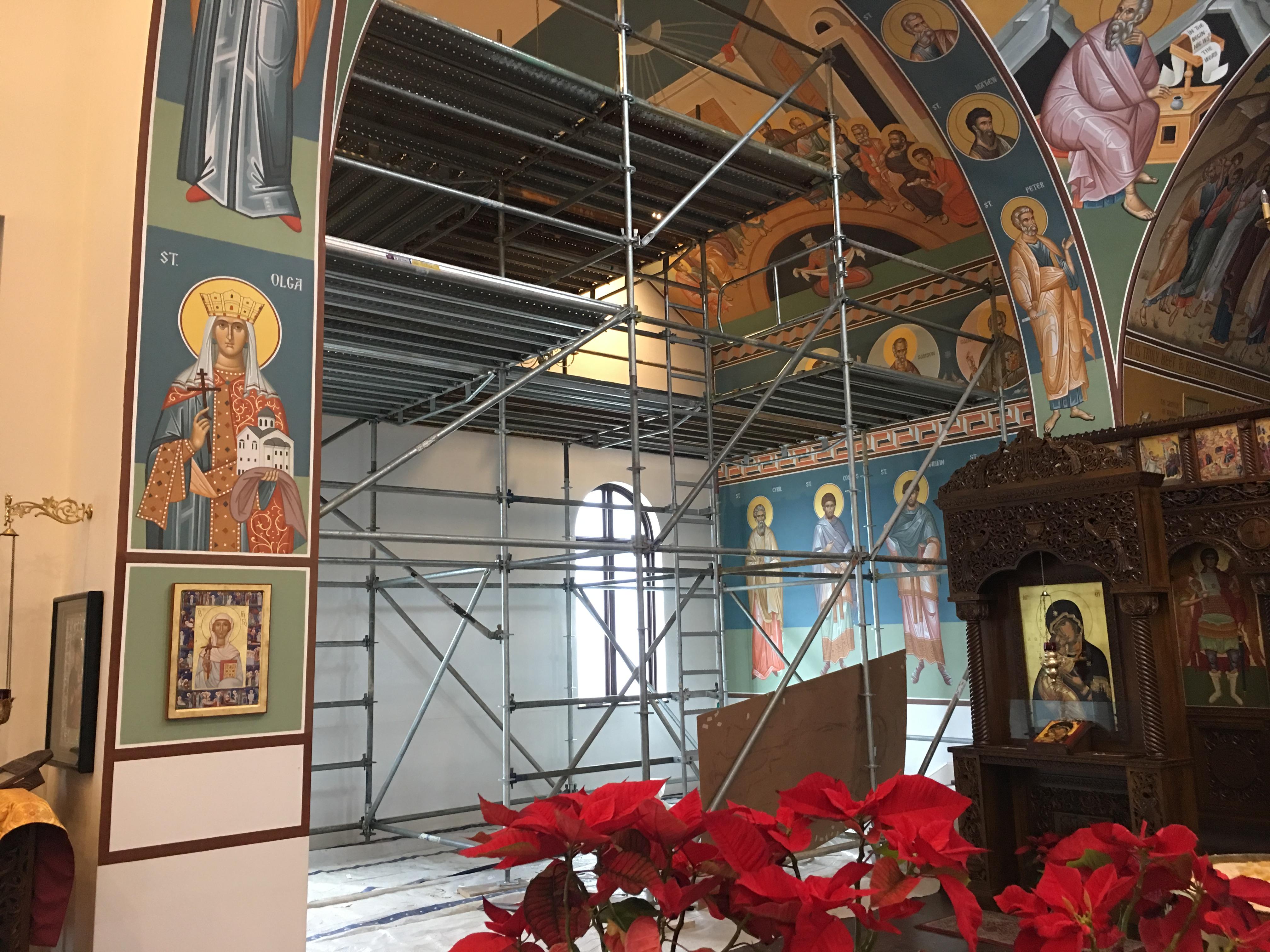 Greek Orthodox Church scaffold 1