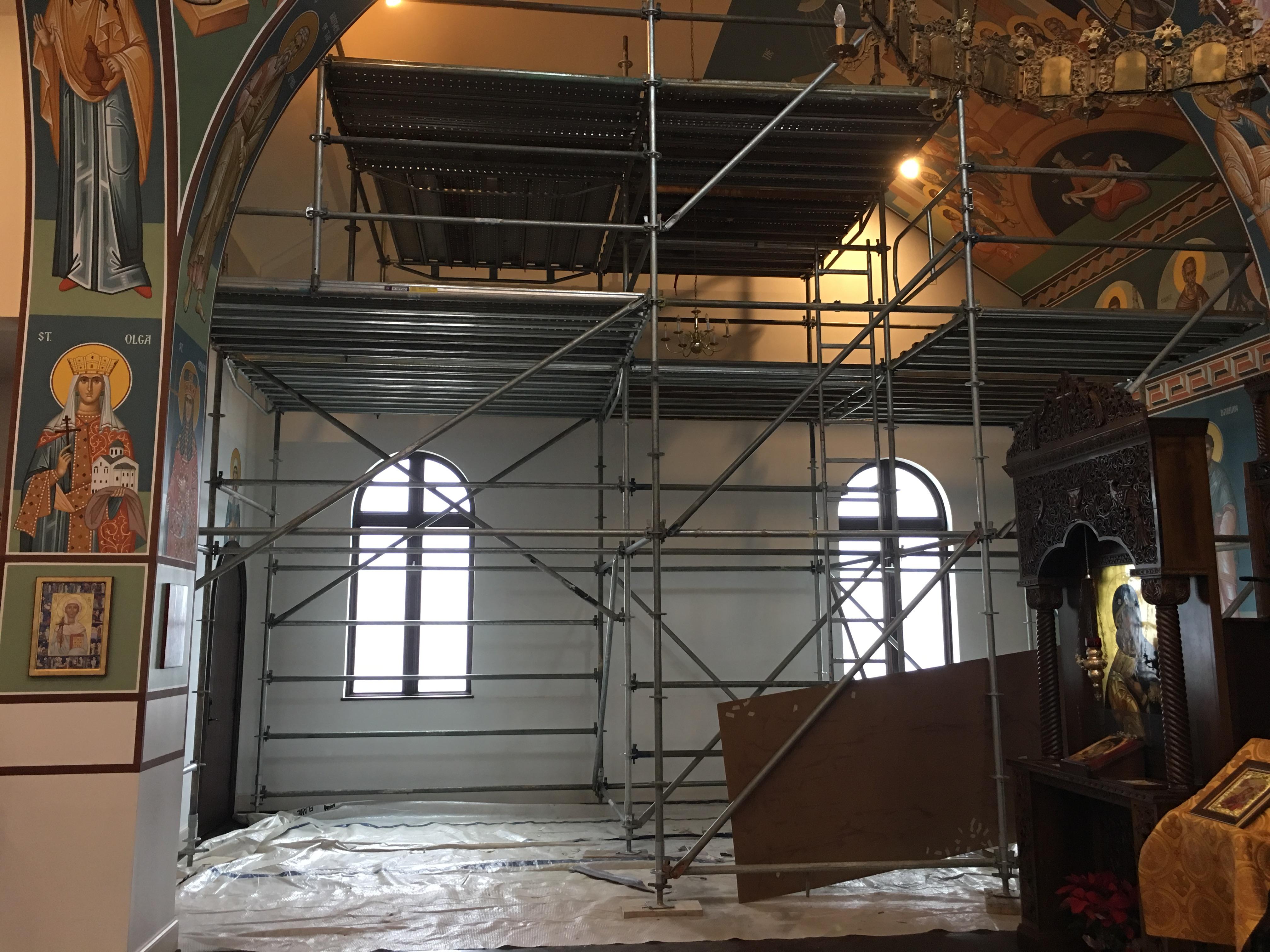 Greek Orthodox Church scaffold