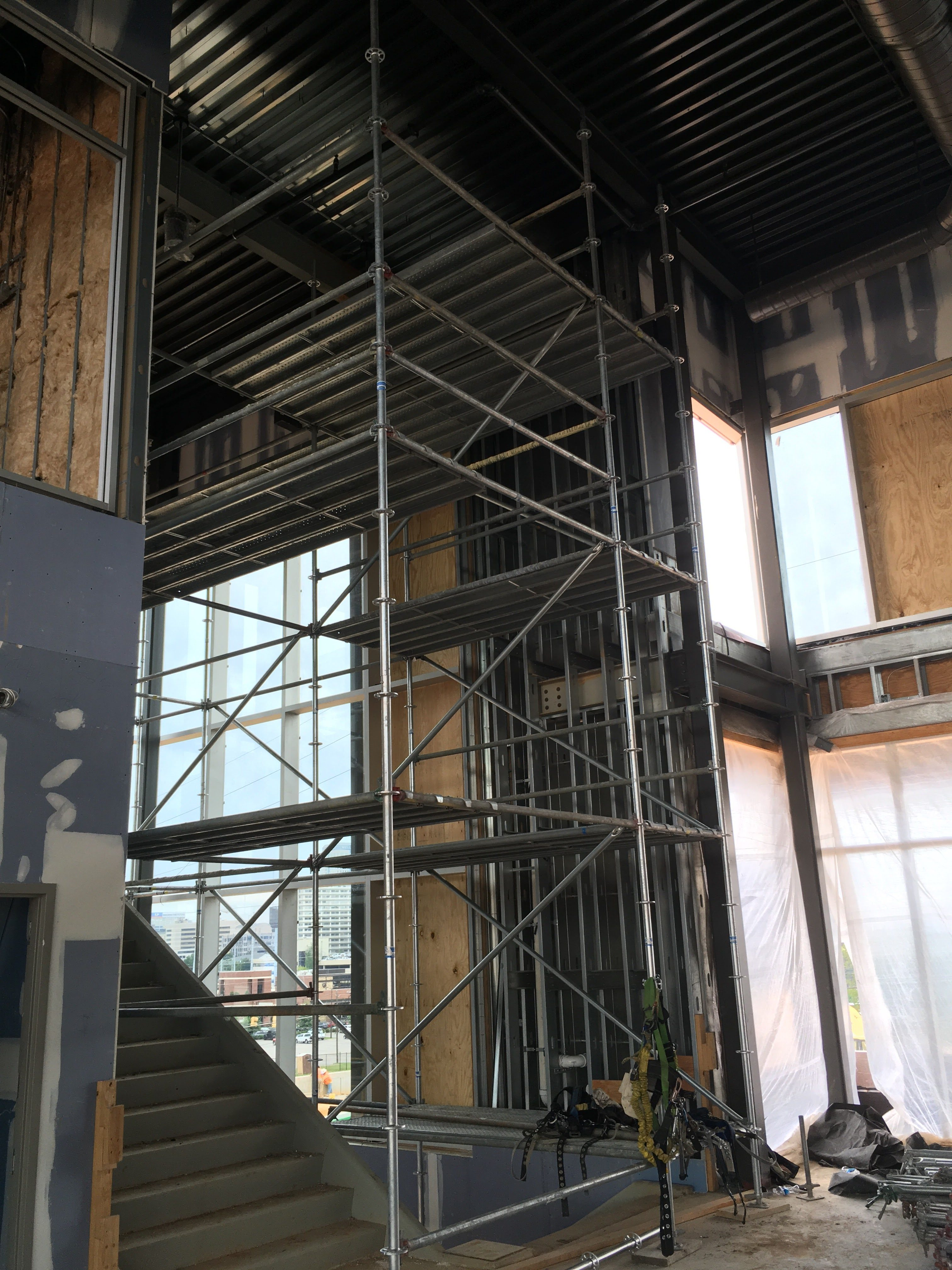 Top Golf Stairwell scaffold 9