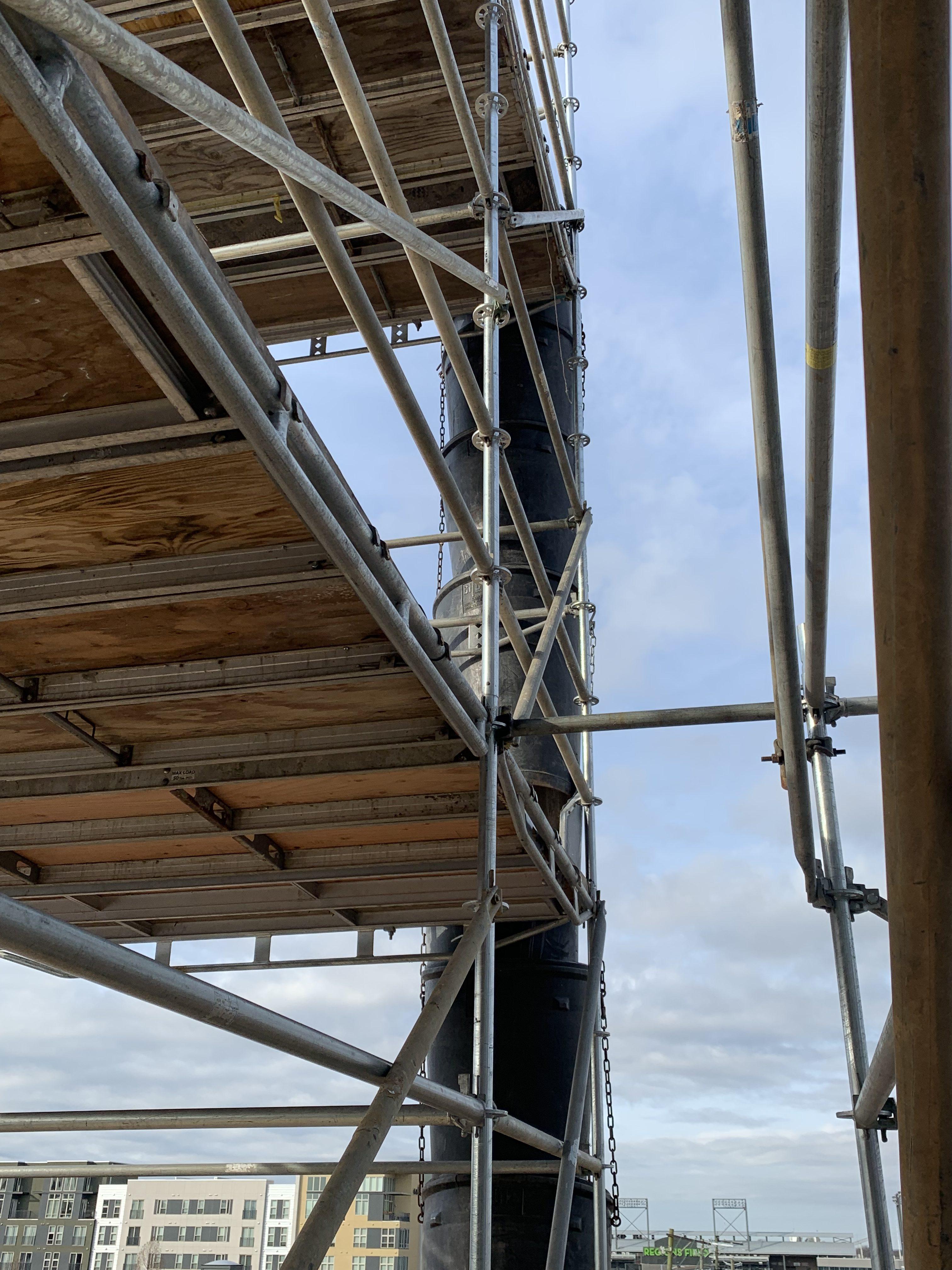 1st Ave S Condo Renovation scaffold 5