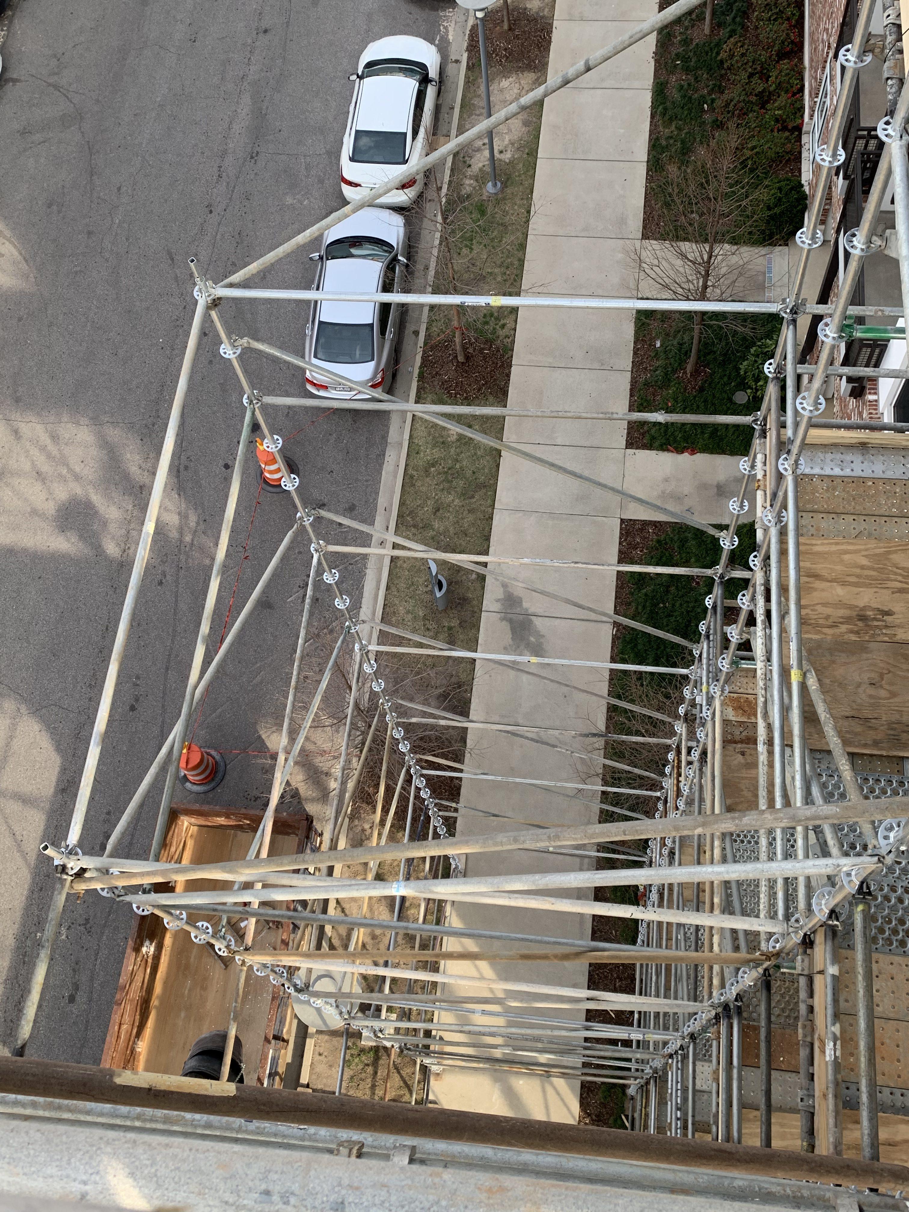 1st Ave S Condo Renovation scaffold 2