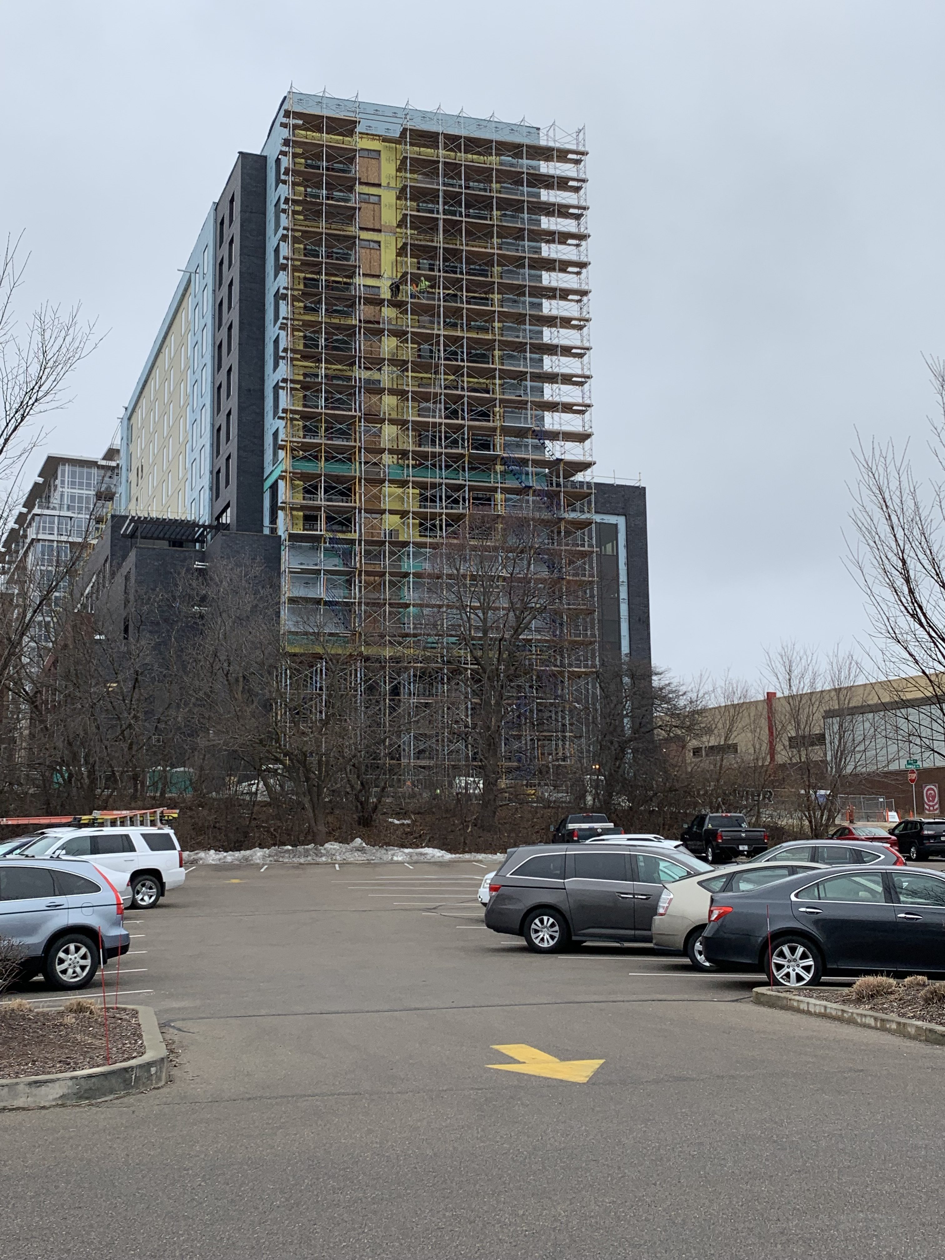 Springhill Suites scaffold