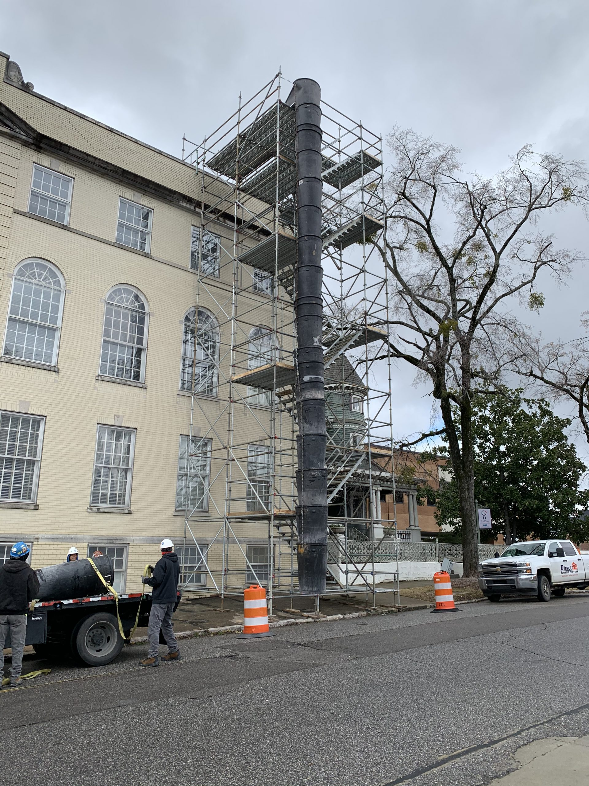 Southside Baptist Stair Tower and Trash Chute Scaffold 2