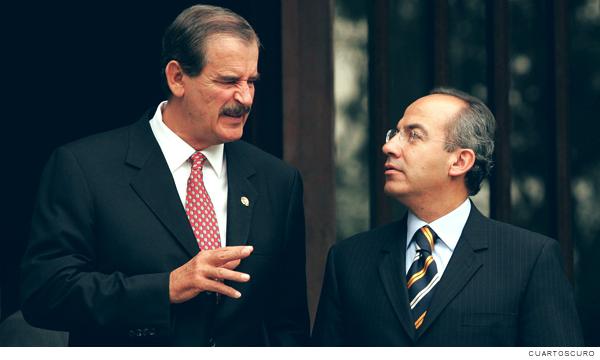 Vicente Fox y Felipe Calderón expresidentes de México