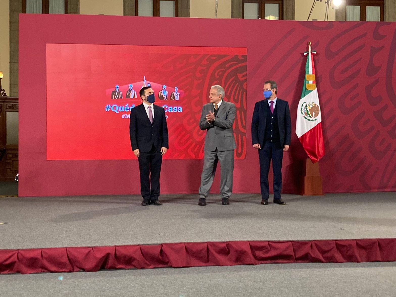 Arturo Reyes Sandoval, Andrés Manuel López Obrador y Esteban Moctezuma