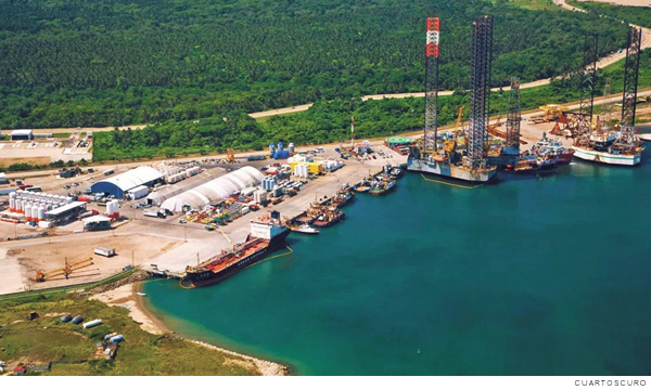 refinería de Dos Bocas, en Tabasco