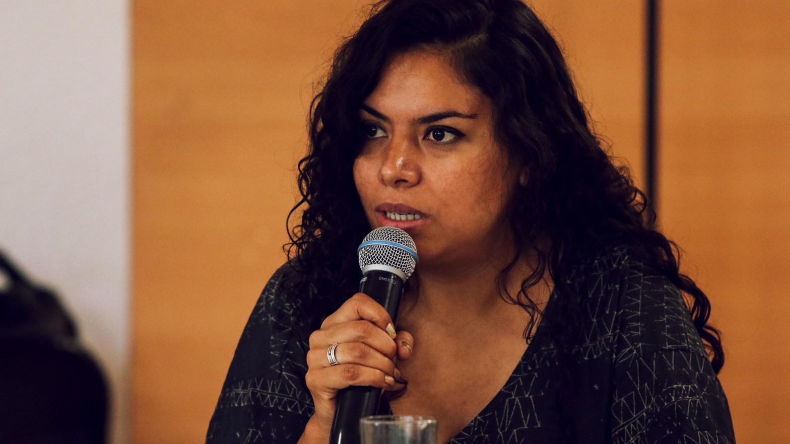 foto de la lideresa del Sindicato Único de Trabajadores (Sutnotimex), Beatriz Adriana Urrea Torres