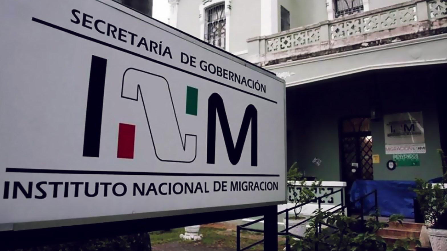 instalaciones del Instituto Nacional de Migración