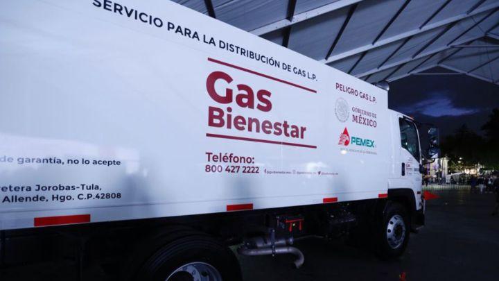 Camión repartidor de Gas Bienestar