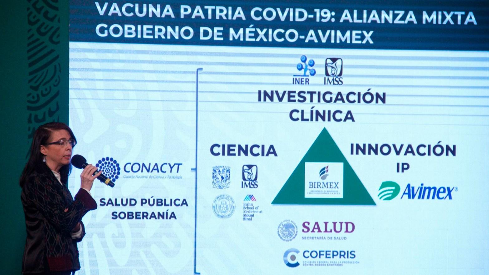 Vacuna patria creada por el Conacyt
