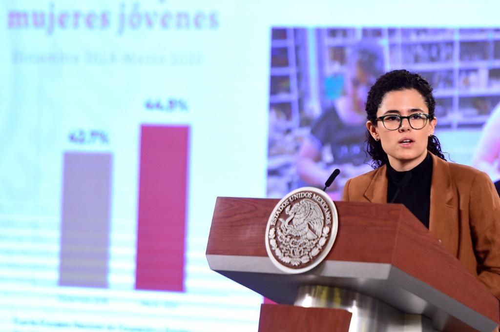 Imagen de Luisa María Alcalde Luján, secretaria del Trabajo y Previsión Social.