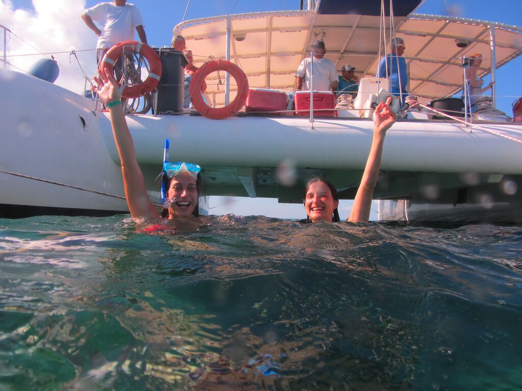 Snorkeling a caminho do Cayo Blanco