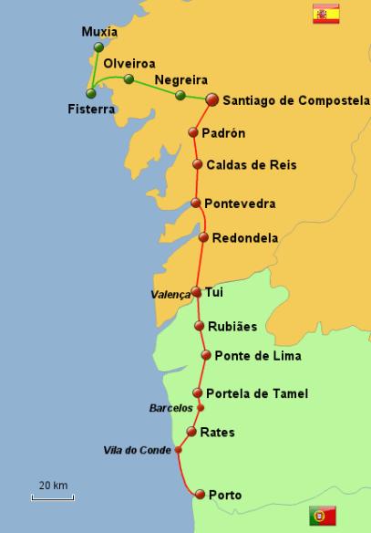caminho portugues de santiago