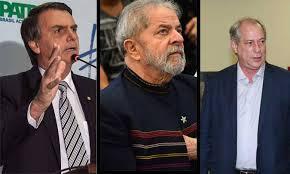 Bolsonaro, Lula e Ciro, os principais nomes para 2022