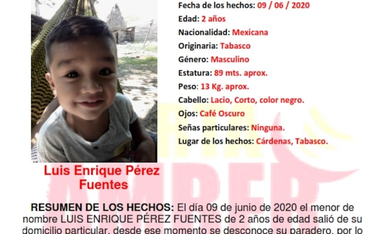 Photo of Urgente búsqueda de menor de año y tres meses, desaparecido en Cárdenas