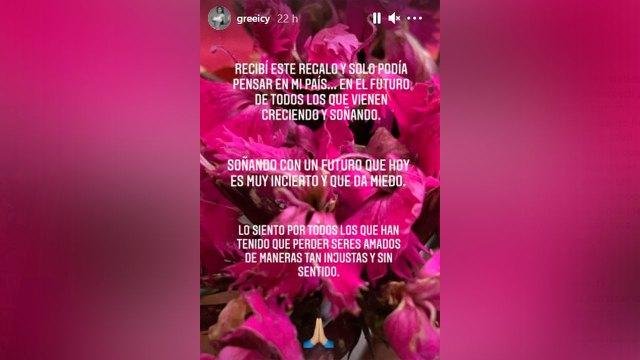 Historias en Instagram de Greeicy. Foto: Instagram @greeicy