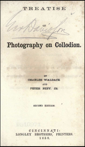 Photography on Collodion by Waldrich & Neff Front