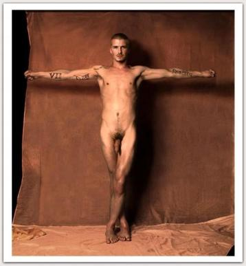David Beckham totalmente desnudo