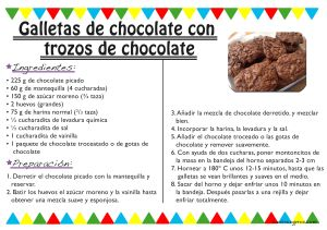 Receta galletas de chocolate con trozos de chocolate