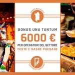 Una tantum a favore degli operatori delle feste e sagre paesane: 6000 euro a fondo perduto