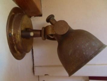 Brass lamp in the V-Berth