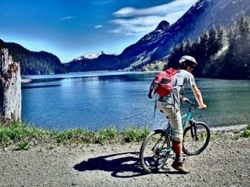 Mountain Biking in Jakolof Bay