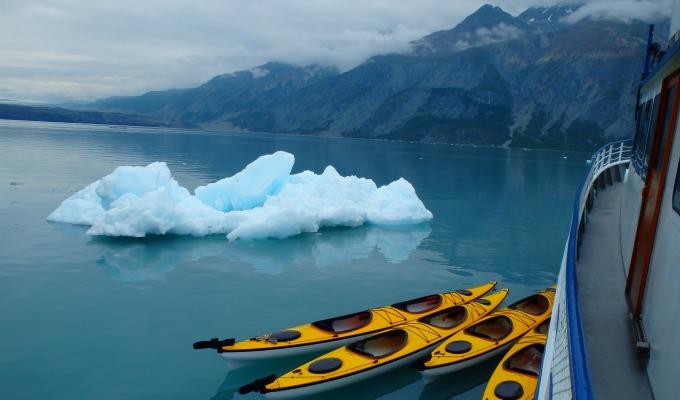 Kayaks and Icebergs