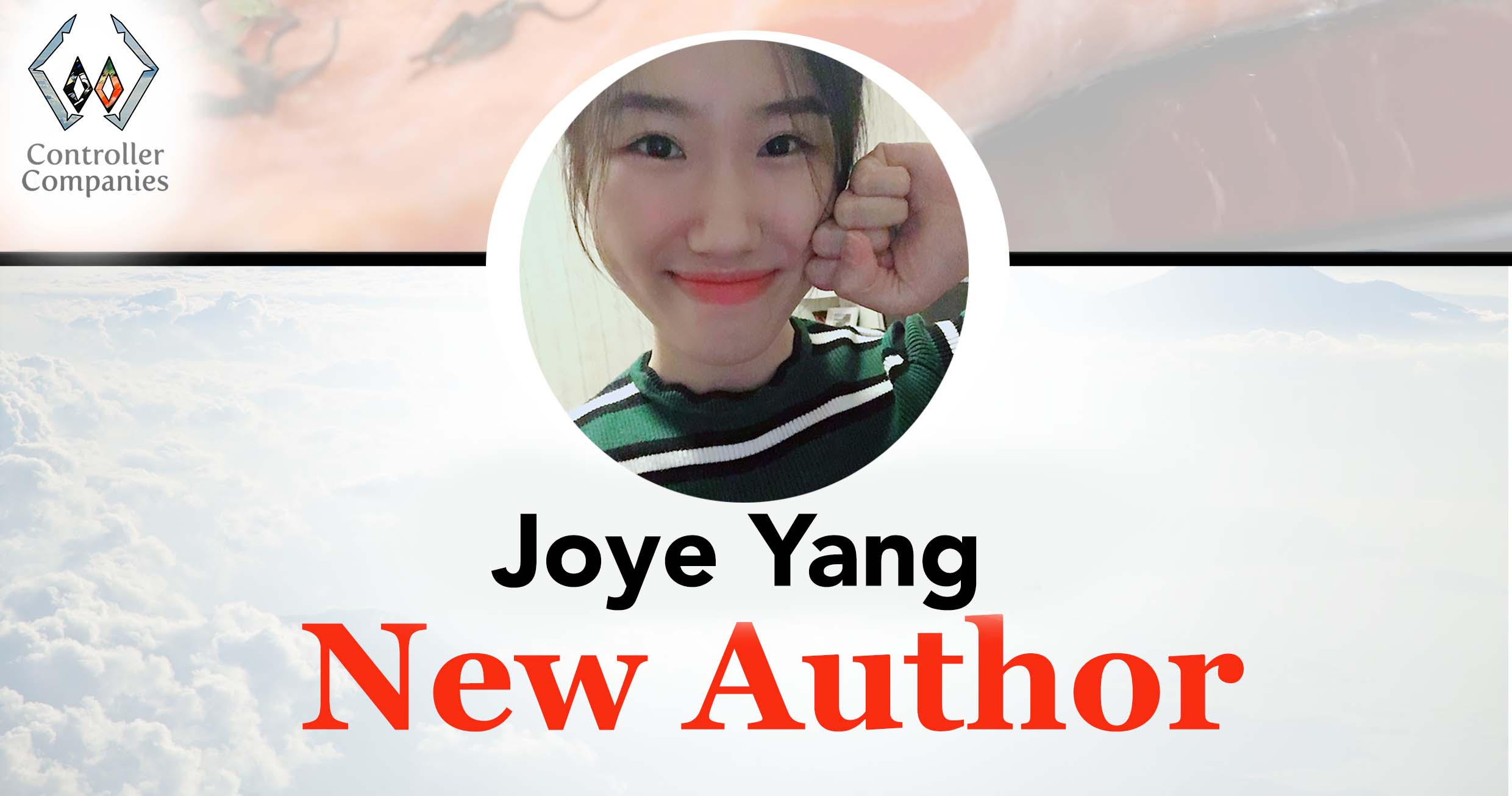 joye yang new author announcement controller companies