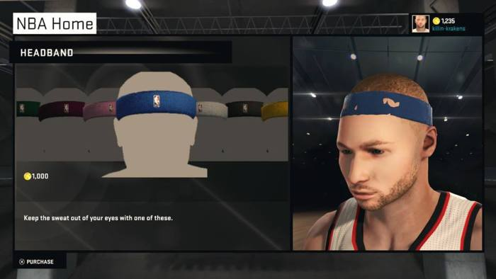 One of the few issues with the face scan: No cool head bands allowed