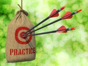Practicar - Flechas en la diana